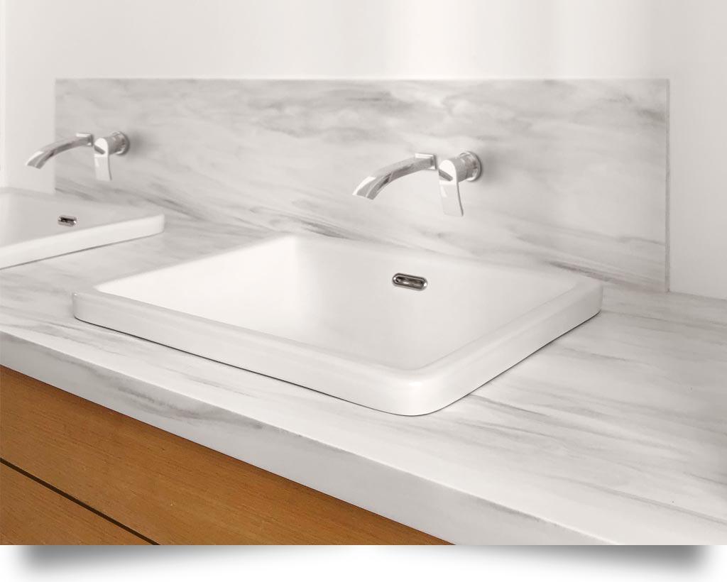 lavabo salle de bain pierre acrylique