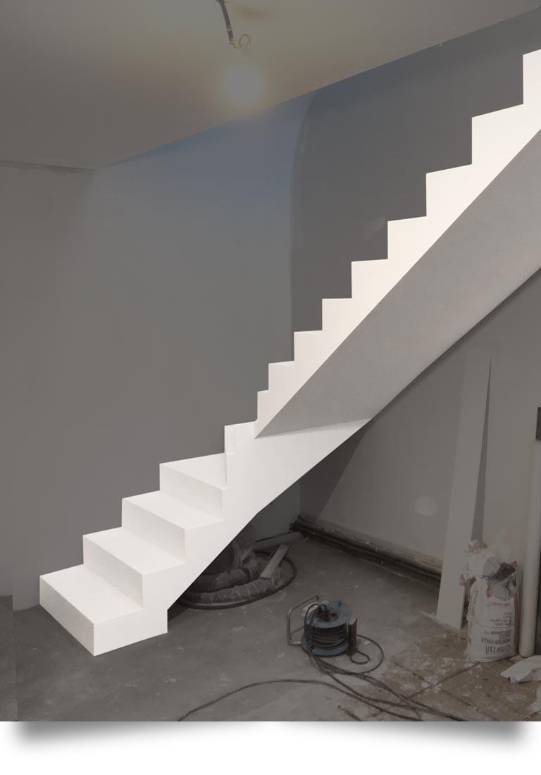 escalier pierre acrylique Roissy en France