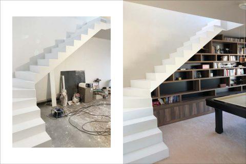 escalier sur mesure pierre acrylique Sevran