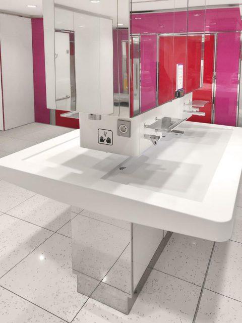 sanitaire public pierre acrylique Mitry Mory