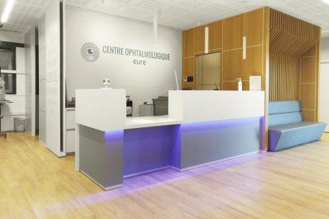 banque d'accueil médical pierre acrylique Mitry Mory